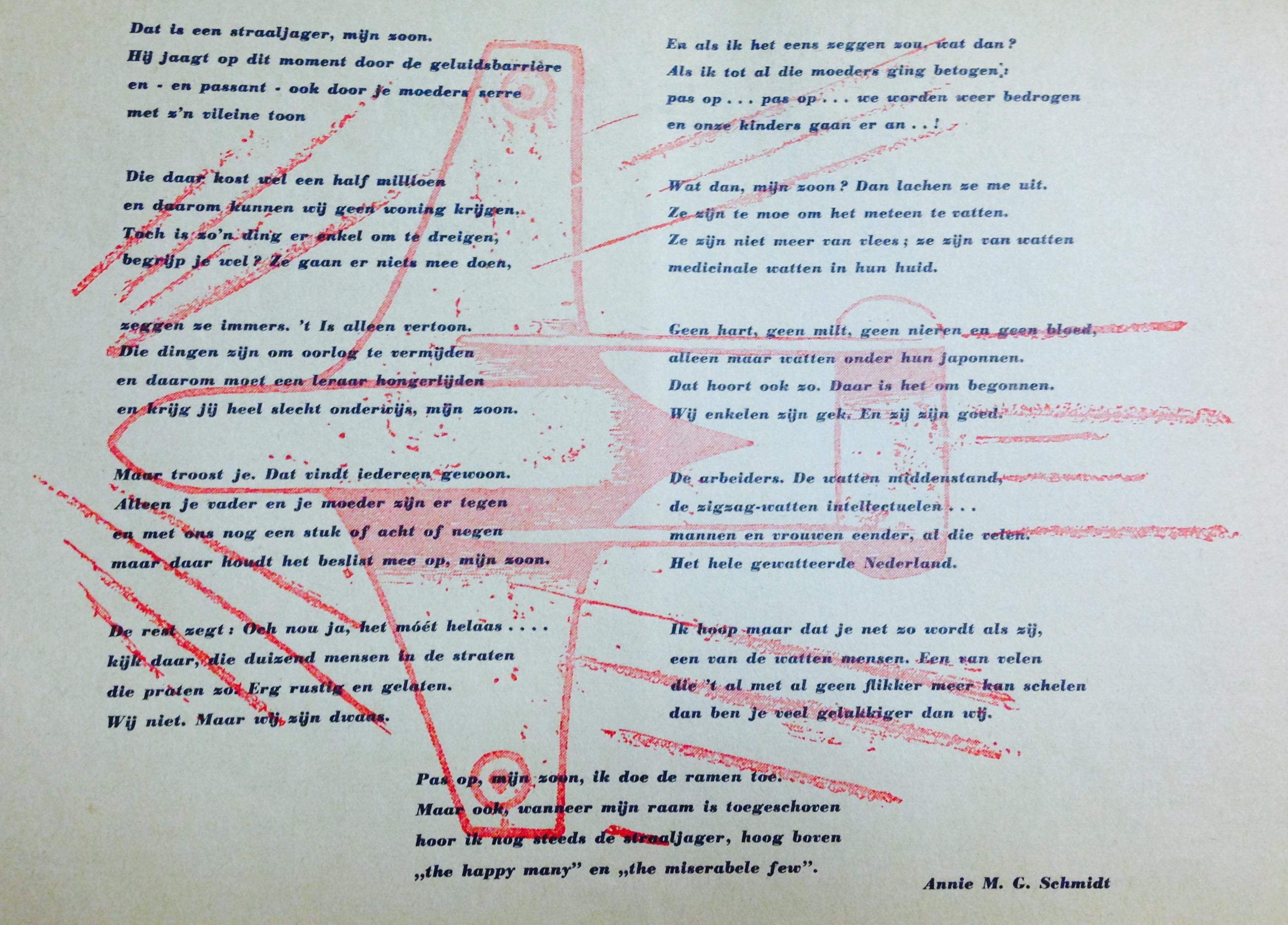 Het gedicht van Annie M.G. Schmidt.