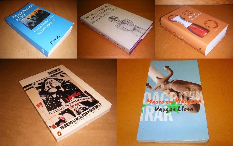 Enkele titels van Vargas Llosa die te koop staan bij Boek2.